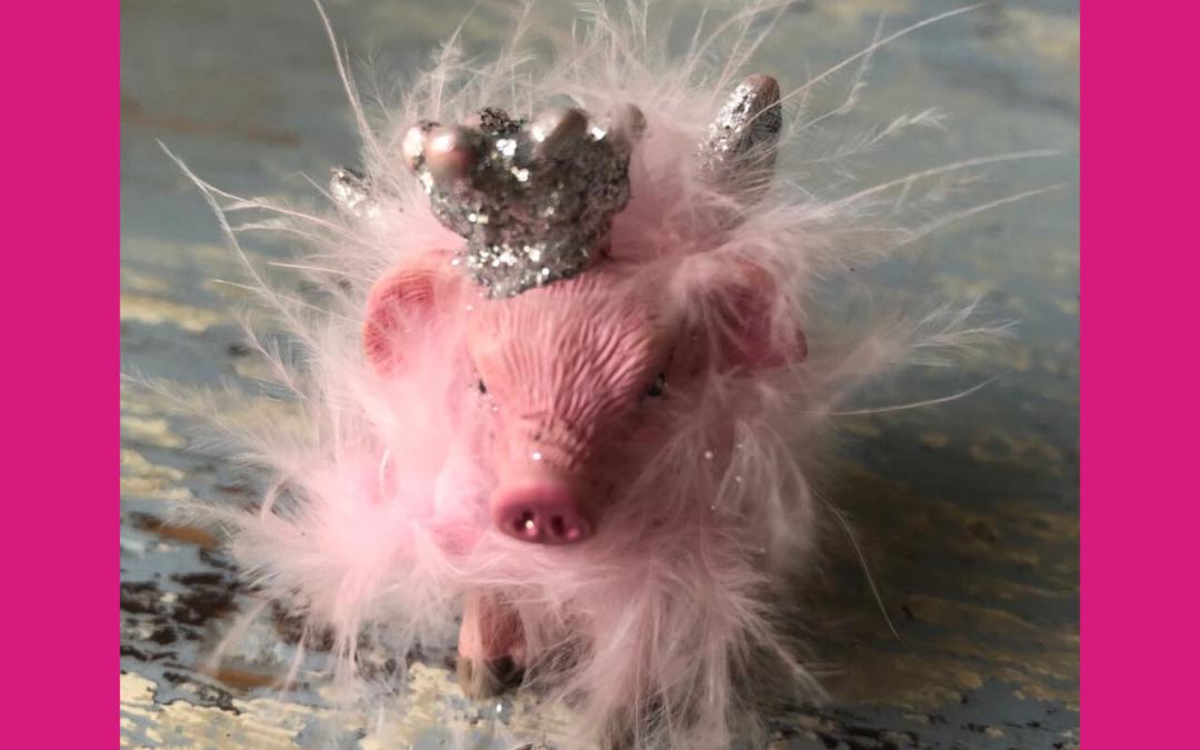"""Was ist eigentlich !""""posten"""" - Beitragsbild mit rosa Schweinchen"""