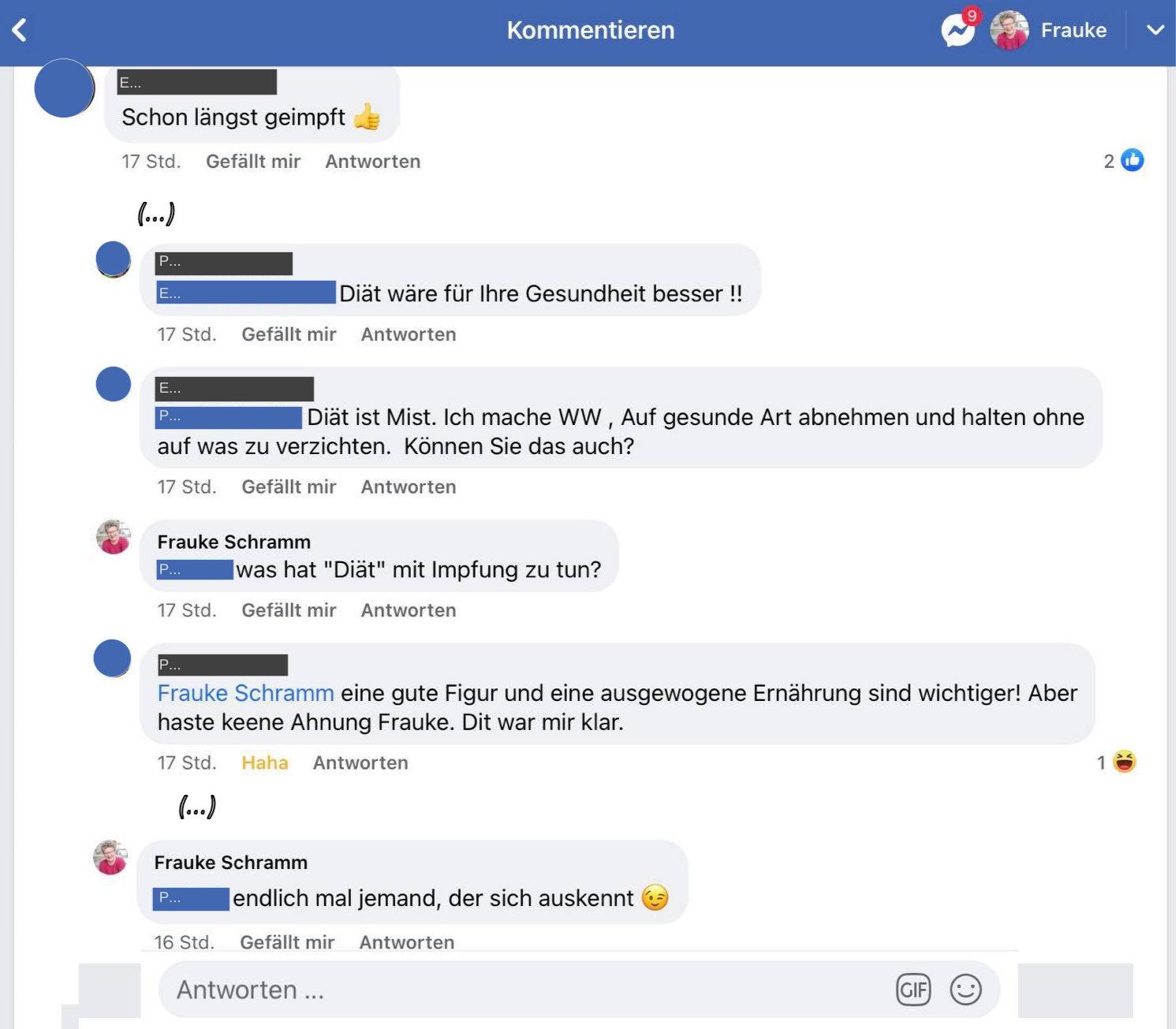Frauke Schramm Social Media Mutmacherin Blog Wir sind hier auf Facebook Beispiel