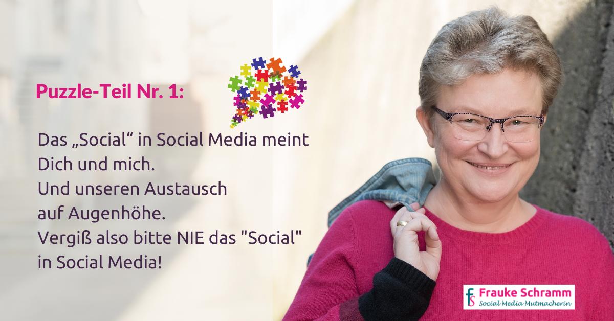 Frauke Schramm Social Media Mutmacherin Puzzle Teil 1
